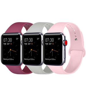 Red Lavender Pink Classic Silicone Sports Bands for Apple Watch Series 1/2/3/4/5  - Veecircle premium silicone iwatch bands