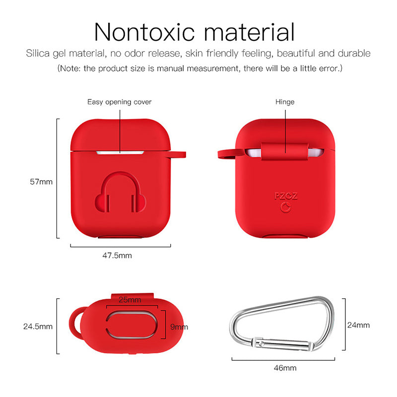 Airpod Case Silicone Hook Protective For Apple AirPods