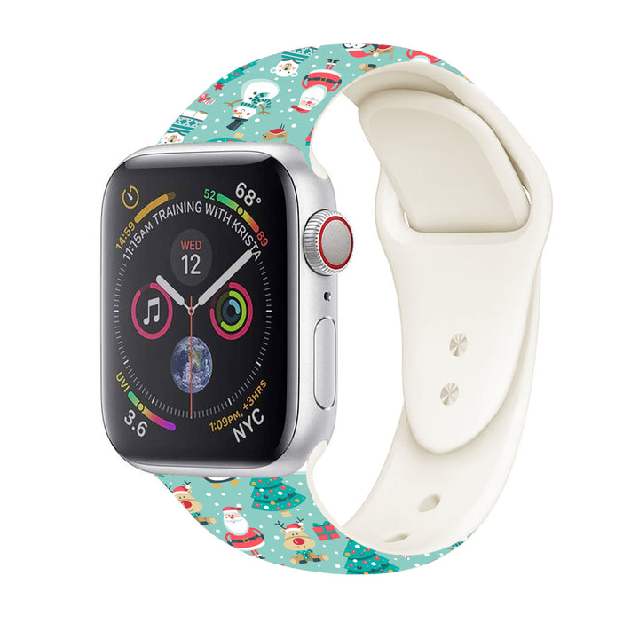 Christmas happy santa apple watch bracelet new different color silicone band for series two one