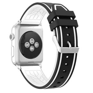 Compatible With Apple Watch Series 1/2/3/4, Colorful Double Stripe Silicone Sport Band - Veecircle