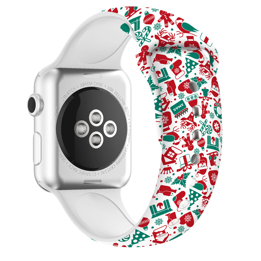 Veecircle Funny Apple Watch Christmas Band Silicone, Compatible With Series 5/4/3/2/1