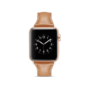 Veecircle Thin Genuine Leather Loop Slim Watch Strap for Apple Watch Series 5 4 3 2 1
