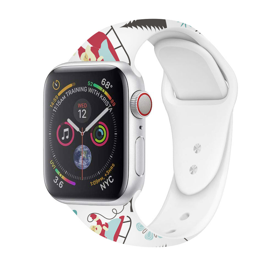 Veecircle Snow Christmas Silicone Strap , Compatible With Apple Watch Series 5/4/3/2/1