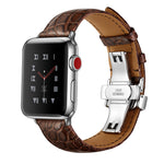 Veecircle Premium Crocodile Leather Strap Compatible With Apple Watch Series 1/2/3/4/5