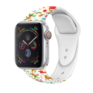 Veecircle Christmas Funny Apple Watch Band Silicone , Compatible With Series 5/4/3/2/1