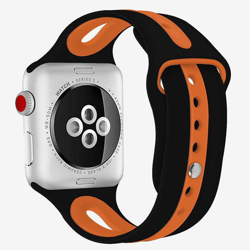 Compatible With Apple Watch Series 1/2/3/4, Breathable Silicone Band - Veecircle