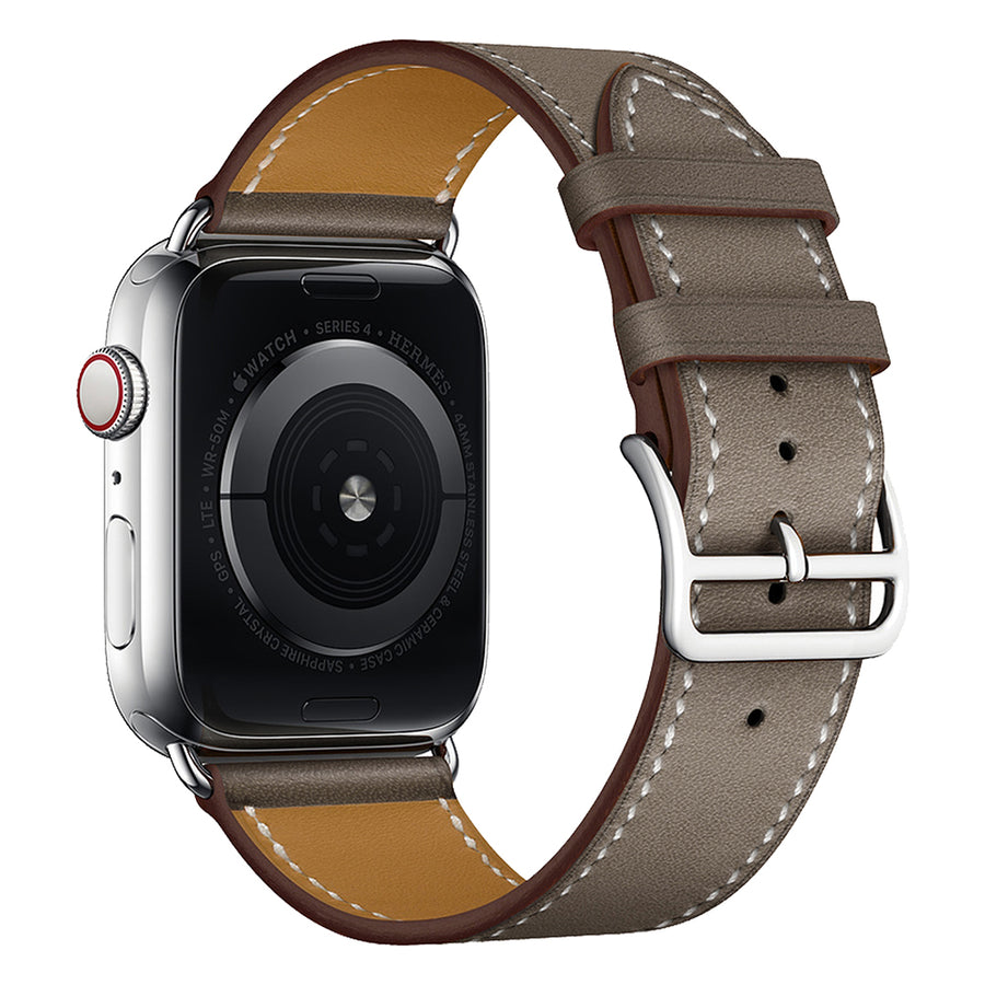 Veecircle Monochrome Leather Strap Compatible With Apple Watch Series 1/2/3/4/5