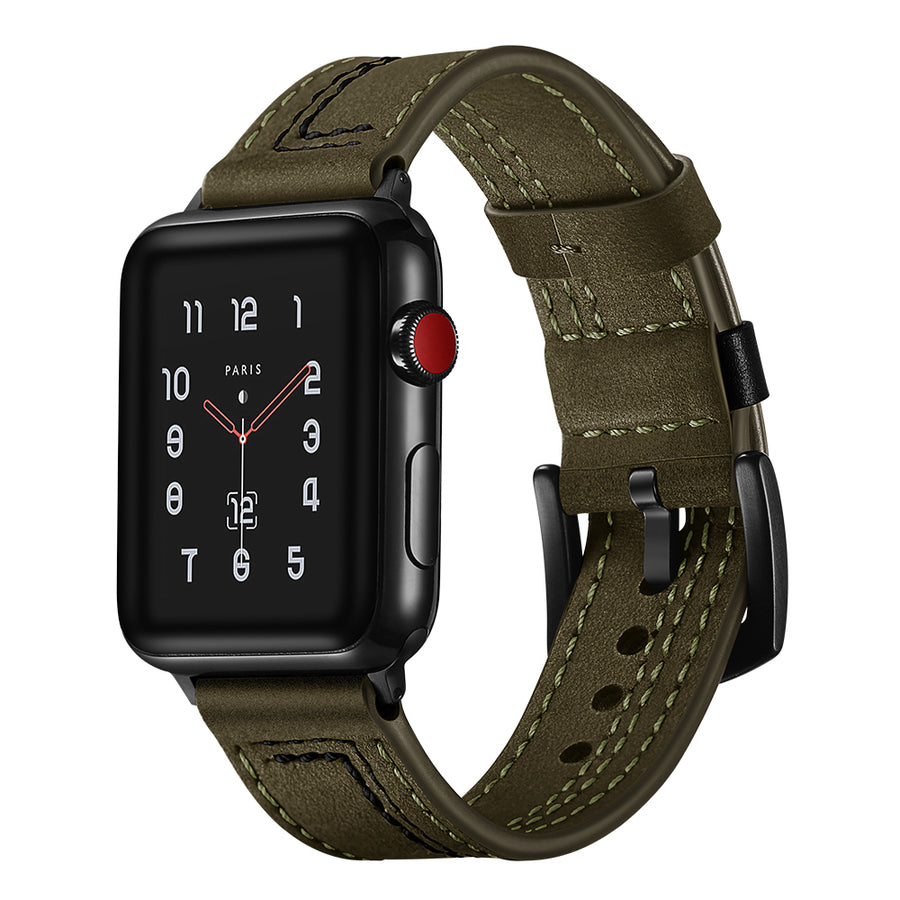 Veecircle 7 Word Leather Strap Compatible With Apple Watch Series 1/2/3/4/5