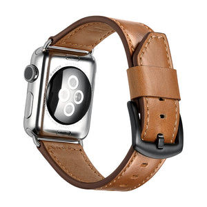 Veecircle Blade Style Leather Apple Watch Strap Compatible With Series 5 4 3 2 1