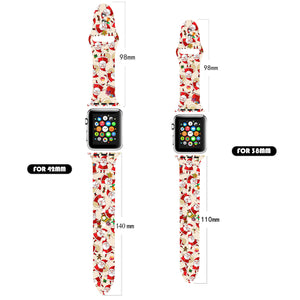 Christmas pretty apple watch band colored silicone strap for 38mm 42mm series 3 2 1 and 44mm 40mm 5 4