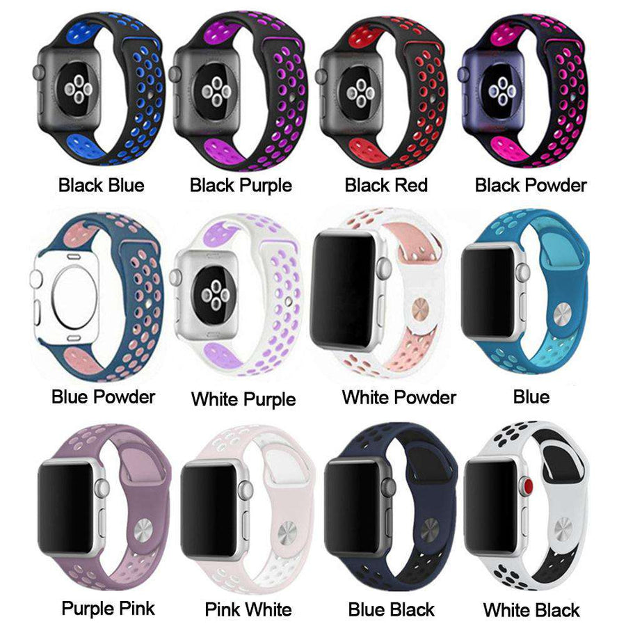 Compatible With Apple Watch Series 1/2/3/4, Classic Silicone - Veecircle