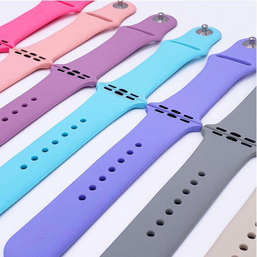 Classic Silicone Sport Band for 38mm 40mm 44mm 42mm Apple Watch- Veecircle Solid Color Soft Silicone Strap