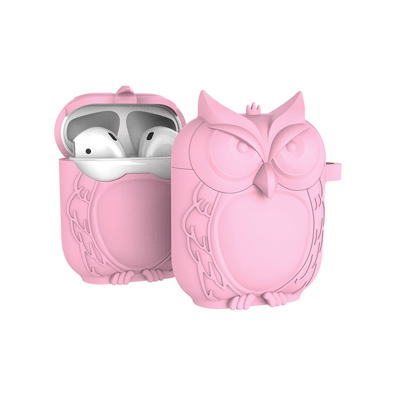 Owl Airpod Case Silicone Hook Protective For Apple AirPods