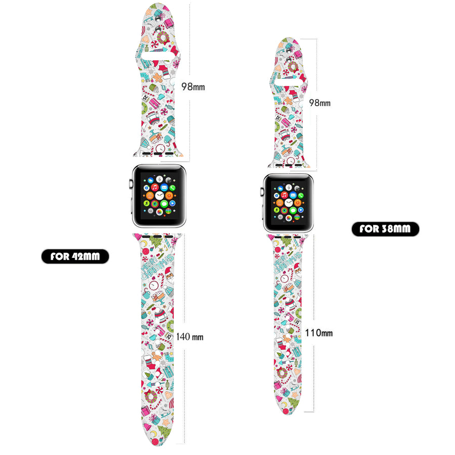 Veecircle Cute Christmas Silicone Band  , Compatible With Apple Watch Series 5/4/3/2/1