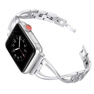 Compatible With Apple Watch Series 1/2/3/4, Rhinestone Crystal Inlay - Veecircle