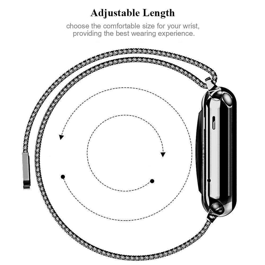 Milanese Stainless Steel Apple Watch Series 1/2/3/4 - Veecircle