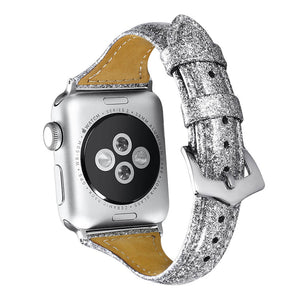 Veecircle Glitter Strap Faux leather Bracelet for Apple Watch Series 5 4 3 2 1