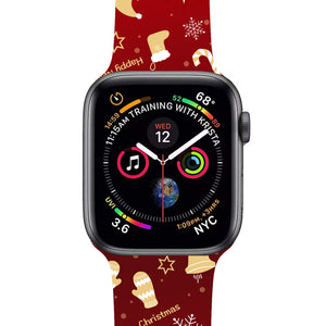 Veecircle Apple Watch Christmas New Year Band Silicone, Compatible With Series 5/4/3/2/1