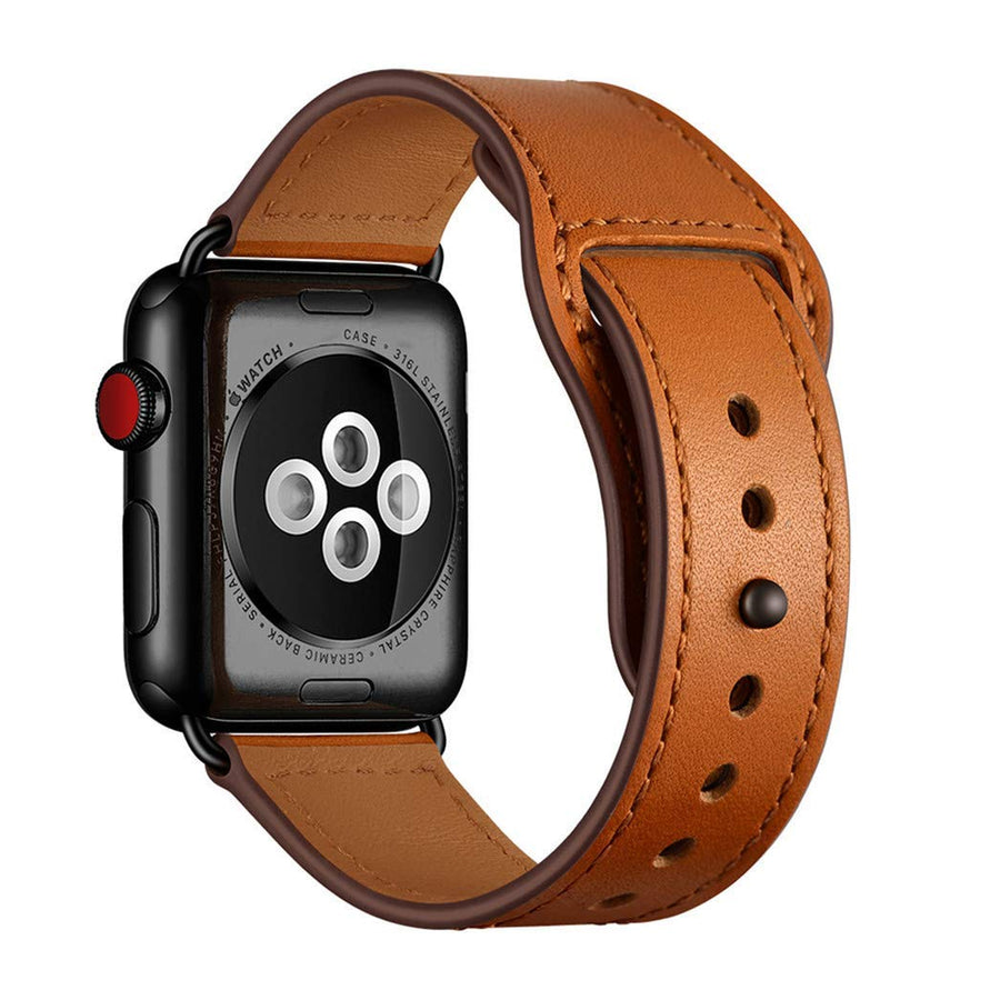 Veecircle Genuine Leather Loop Strap Compatible With Apple Watch Series 1/2/3/4/5