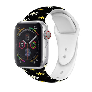 Veecircle Black Snowflake Christmas Silicone Strap , Compatible With Apple Watch Series 5/4/3/2/1