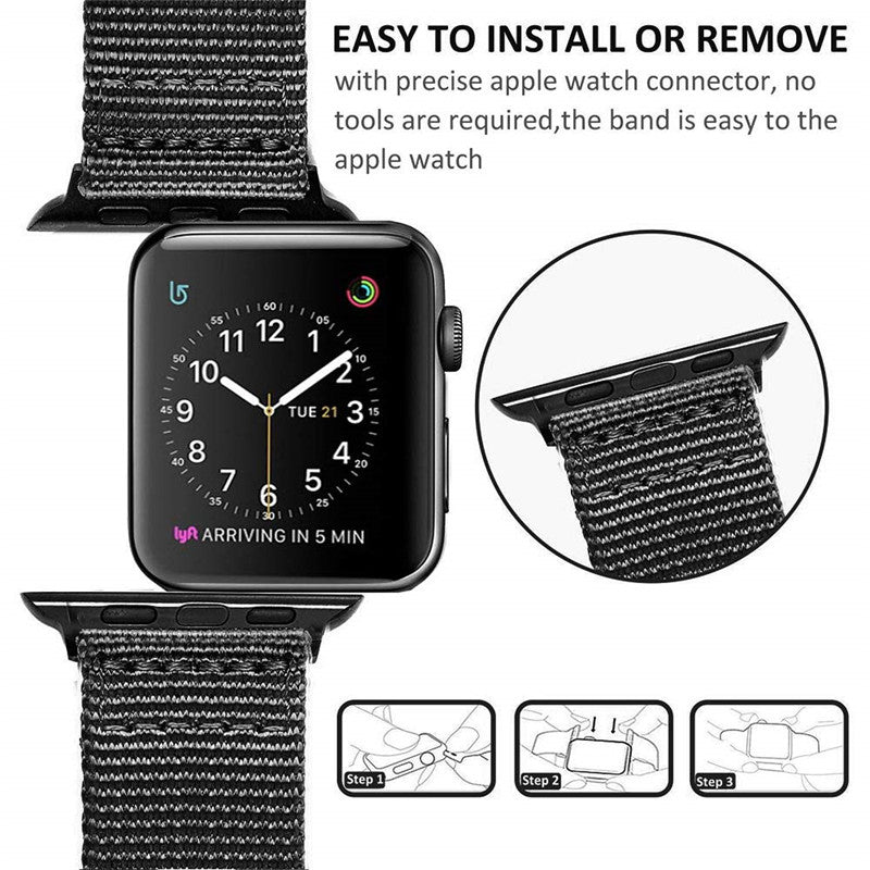 Veecircle NATO strap nylon band for Apple Watch Series 5 4 44mm 40mm and 3 2 1 42mm 38mm