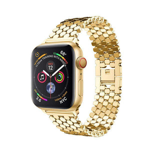 Compatible With Apple Watch Series 1/2/3/4, Honeycomb Stainless Steel Strap - Veecircle