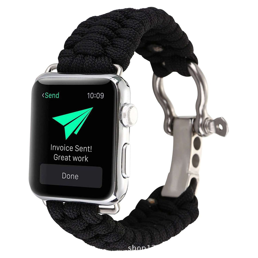 Compatible With Apple Watch Series 1/2/3/4, Outdoor Umbrella Rope Nylon Strap - Veecircle