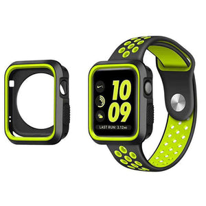 Compatible With Apple Watch Series 2/3/4, Silicone Bumper Case - Veecircle