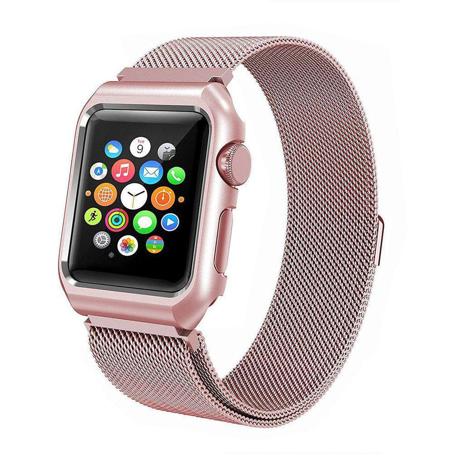 Milanese Magnetic Stainless Steel Strap + Case Cover Apple Watch Series 1/2/3/4 - Veecircle