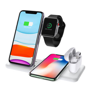 4 in 1 Multi-funciton Wireless Charging Stand Pad