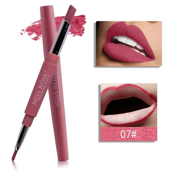 14 Color Double-end Lipstick Pencil Waterproof Long Lasting Tint