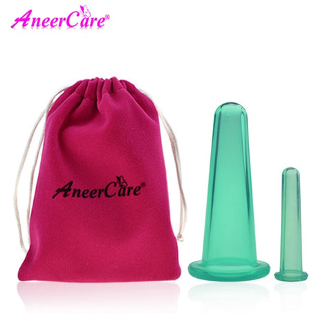 2 pcs jar vacuum cupping cans for massage