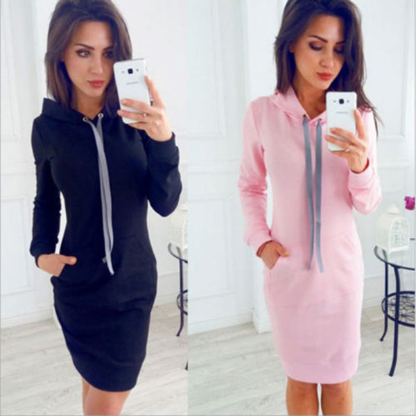 Long Sleeve O-neck Pullover Knit Bodycon Slim Mini Dress