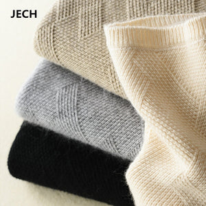Cashmere Wool Geometric Knitted Warm Sweater