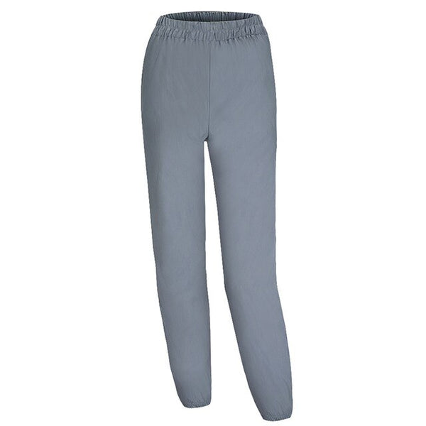 Flash Reflective Jogger Pants Women Casual Gray Solid