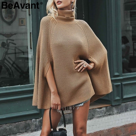 Casual Loose Sweaters Jumper  Poncho