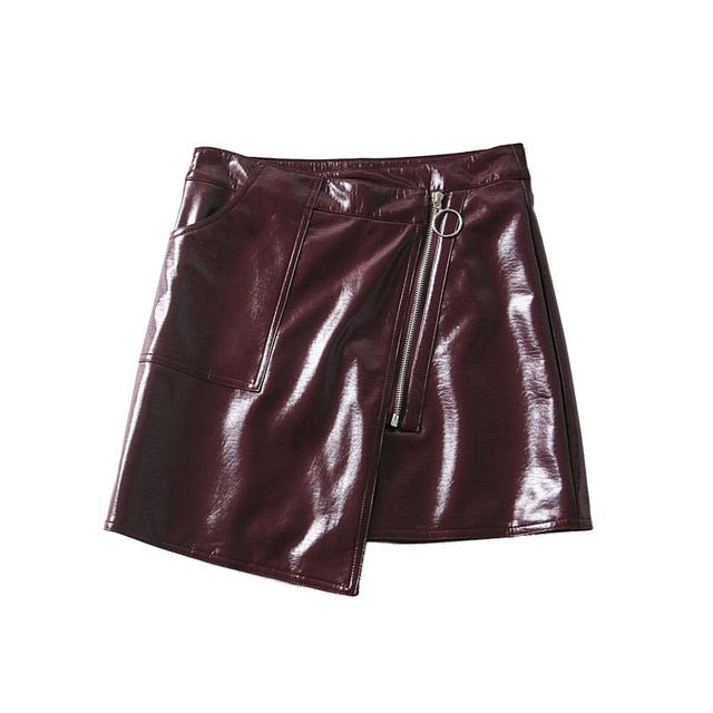 2c6515811 Bella Philosophy high waist Skirt PU faux leather