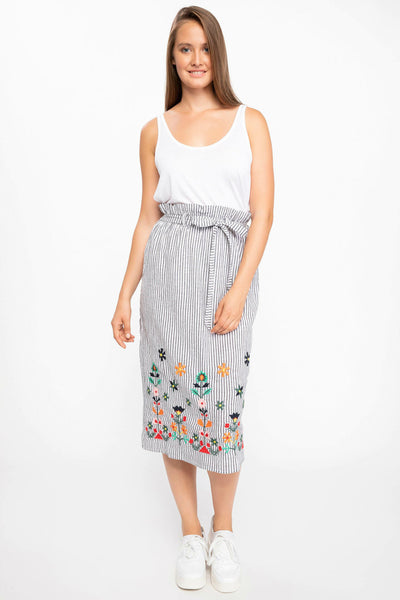 DeFacto Woven Colorful Floral Long Skirt