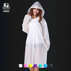Transparent Raincoat With Hood For Rain