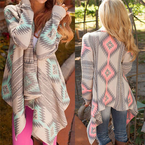Fashion Kimono Knitted Cardigan Long Sleeve Poncho 100% Cotton