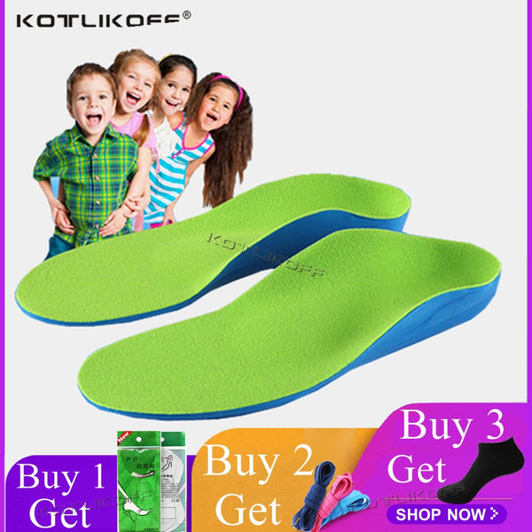 Kids Flat Foot Children Orthopedic Insoles Arch Support