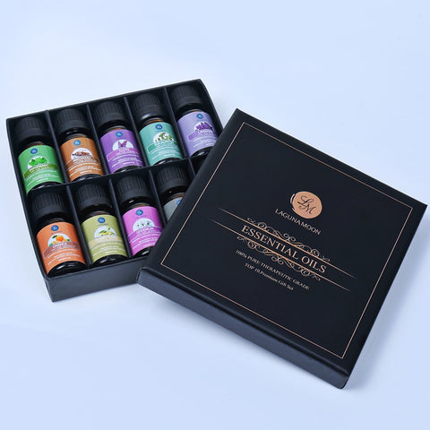 Lagunamoon 10ML Top 10 Gift Set Pure Essential Oils