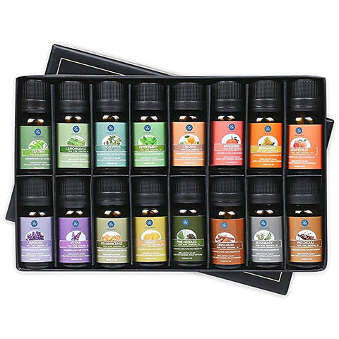 Lagunamoon 10ML Top 16 Gift Set Pure Essential Oils