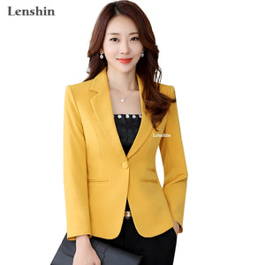 Lenshin High-quality Blazer Straight and Smooth Office Lady Style
