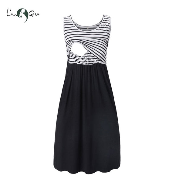 Women's Sleeveless Nursing Dress