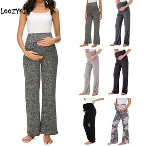 Maternity Wide/Straight Versatile Comfy Lounge Pants Stretch