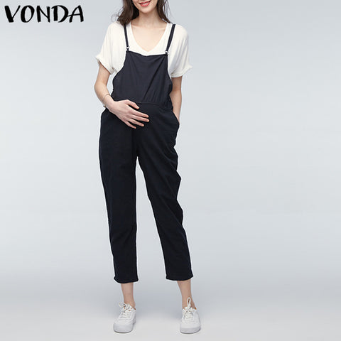 Pregnancy Pants Sleeveless Trousers Overalls