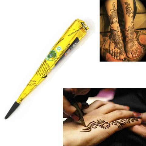 Indian Henna Paste Cone Beauty Women Mehndi 1pcs