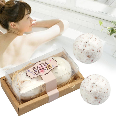 Bath Bombs Set Organic and Natural  Lush Fizzy Spa  2Pcs/set