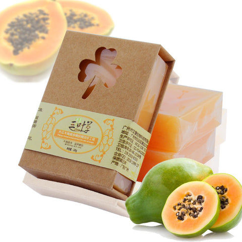 100g Natural Organic Herbal Green Papaya Whitening Handmade Soap